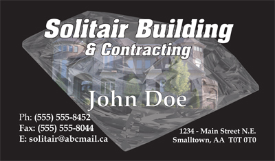 Business Cards Samples - Contracting